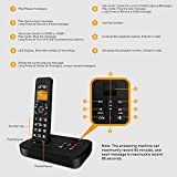 Ornin D1002B Cordless Home Phone with Answering