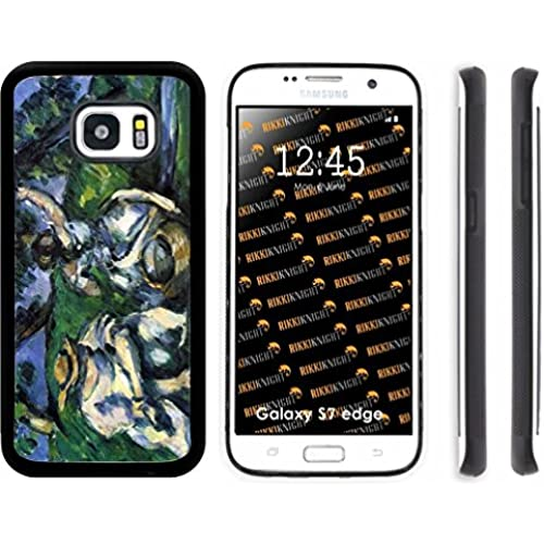 Rikki Knight Paul Cezzane Art Figures Design Samsung Galaxy S7 Edge Case Cover (Black Rubber with front Bumper Protection) for Samsung Galaxy S7 Edge ONLY Sales