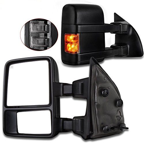 ECCPP For Ford Exterior Automotive Mirrors by Towing Mirrros Replacement fit for Super Duty F250 F350 F450 F550 1999-2015 with Smoke Turn Signal Telescopic