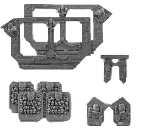 Scibor MM 28mm miniature Conversion Parts: Templar Big set (Black Templar Space Marines)