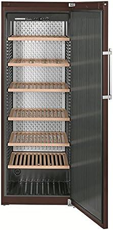 Liebherr WKT 5551 Independiente Nevera de vino termoeléctrico Marrón 253botella(s) A+ - Enfriador de vino (Independiente, Marrón, Acero inoxidable, 7 estanterías, 1 puerta(s), Marrón)[Clase de eficiencia energética A+]