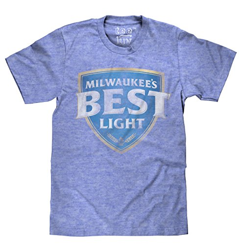 (Tee Luv Milwaukee's Best Light T-Shirt - Millwaukees Best Beer T-Shirt (Small) Royal Snow Heather )