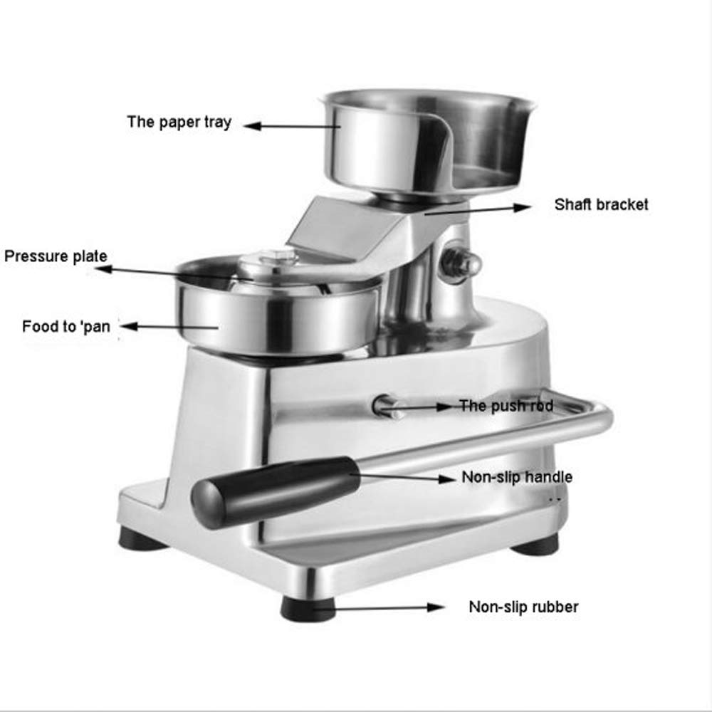 Zinnor 100mm Manual Hamburger Press Burger Forming Machine Round Meat shaping Aluminum Machine Forming Burger Patty MakersUniform Patties by Zinnor (Image #3)