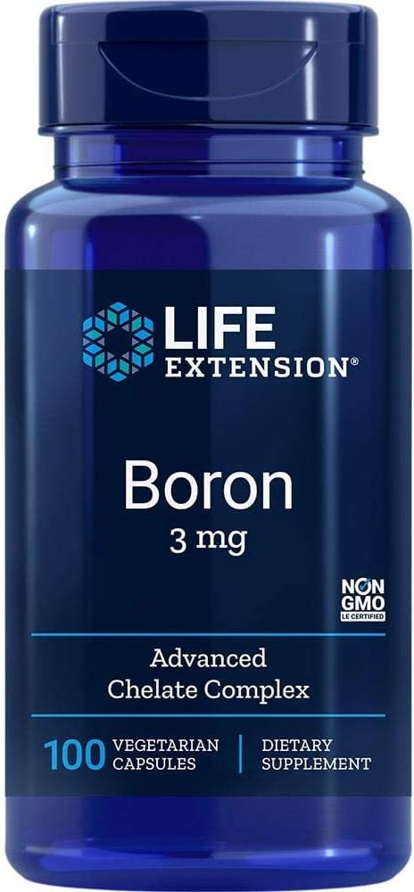 Life Extension Boron 3 Mg 100 Vegetarian Capsules