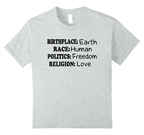 6efe4ac5 Kids Birth Place Earth Race Human Politics Freedom Love 8 Heather Grey -  Buy Online in Oman. | Apparel Products in Oman - See Prices, Reviews and  Free ...