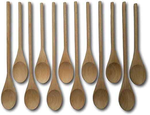 Wooden Spoons KITCHEN CRAFT BRAND Cookware Serving Spoon Beach Wood Slotted
