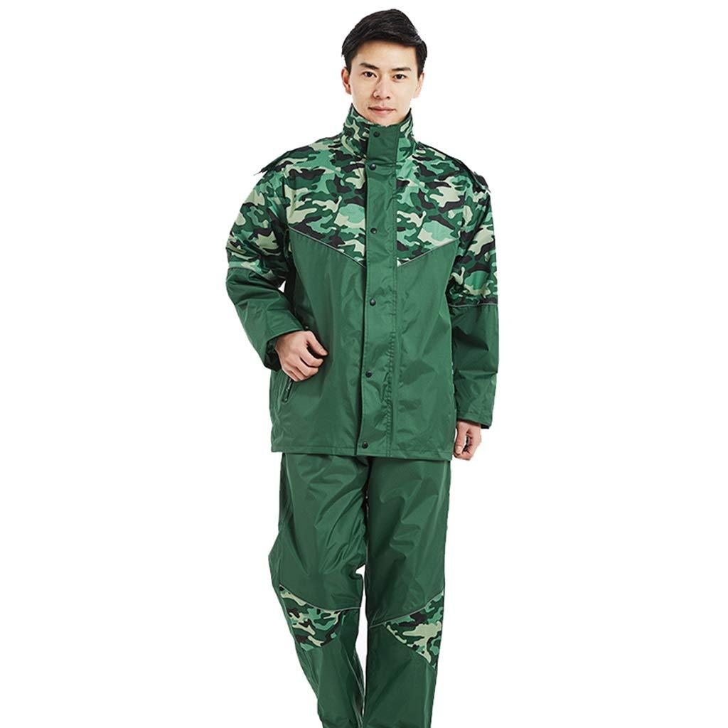 Medium Dongyd Imperméable imperméable Costume de Pantalon de Pluie pour Hommes et Femmes de Moto de randonnée imperméable imperméable rembourré (Taille   XXXXL)
