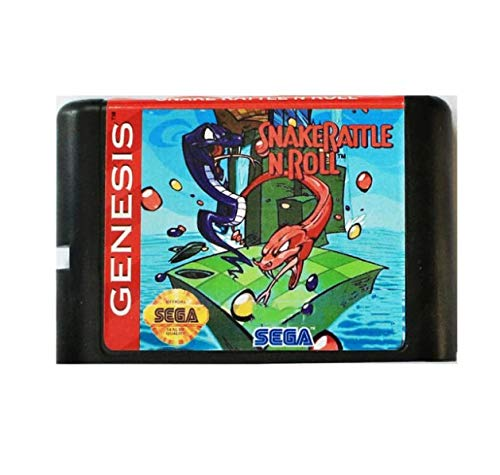 Taka Co 16 Bit Sega MD Game Snake Rattle'n' Roll 16 bit MD Game Card For Sega Mega Drive For SEGA Genesis (Rattle Pal)