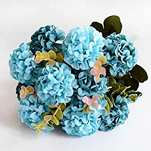 WDDH 5 Pcs Artificial Flowers,Artificial Silk Chrysanthemum Flower Bridal Wedding Bouquet for Home Garden Party Wedding Home Decoration 78