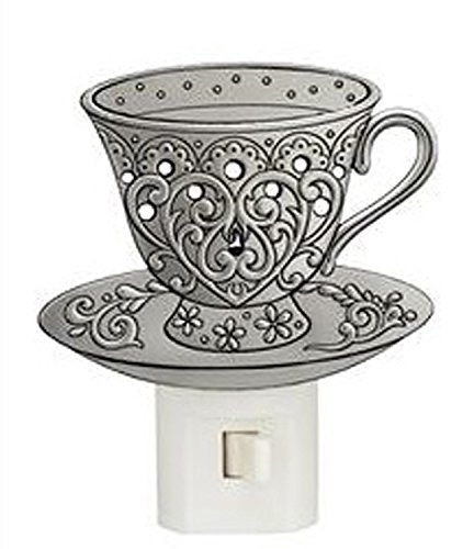 (Ganz Metal Tea Cup With Swirling Heart Design Night Light)