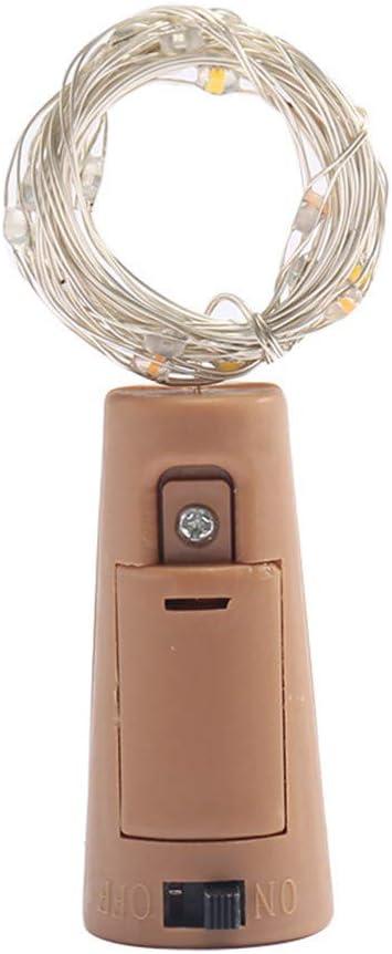 Hermoso y Romántico Luz de Botella Botellas de Vino Luces Alambre de Cobre Plástico de La PC Electrónico Impermeable Navidad Decoración de La Mesa 8 Pieces