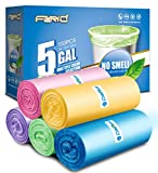 Small Trash Bags - 4-5 gallon trash bags FORID bathroom garbage bags for office home waste bin kitchen(5 colors)