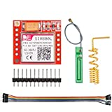 DAOKI SIM800L GPRS GSM Module MicroSIM Card Core Board Quad-Band TTL Serial Port for Arduino with Antenna 3.7-4.2V with Dupont Cable