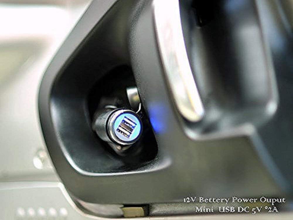 en /ángulo Compatible con Motocicletas BMW De Motocicleta Cliff-Top Cargador USB DIN Hella de 4,6 amp