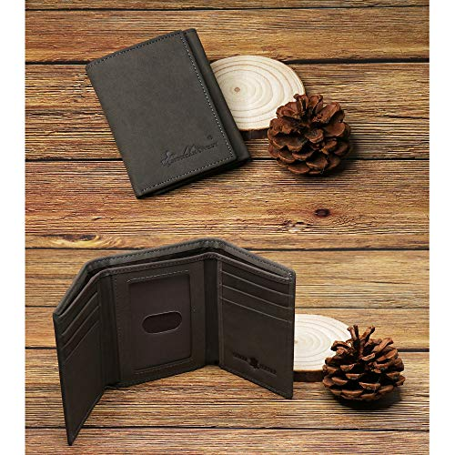 Minimalist Wallets for Mens Montana West Genuine Leather Wallet RFID Slim Wallet Front Pocket Trifold RFID-W003CF