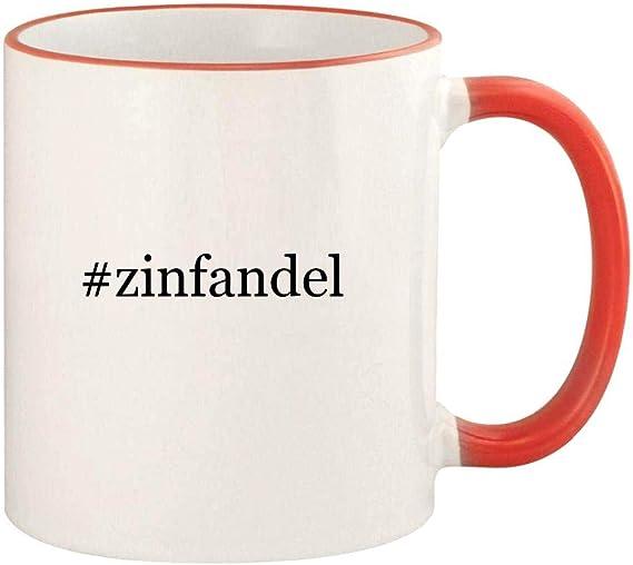 #zinfandel - 11oz Hashtag Colored Rim and Handle Coffee Mug