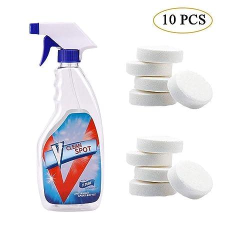KOBWA Limpiador de Espray Efervescente,Multifuncional Spray Cleaner con 1 Botella de Spray - Limpiador en Aerosol Efervescente para Limpieza en El ...