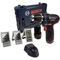 Bosch GSR 10,8-2-LI Akkuschrauber 2,0 Ah in L-Boxx + 39-tlg. Bit- und Bohrersatz