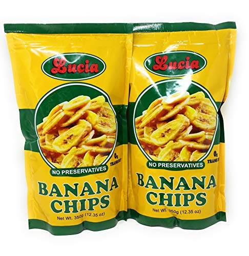 Lucia Banana Chips 350g, 2 Pack (Best Banana Chips In The Philippines)