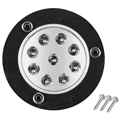 2 LED Dome Light, With Black and White Inserts - Screws Included - A Perfect Addition To Your Home On The Road. Easy Installation.