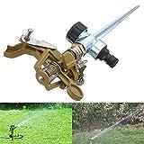 Hanperal Garden Lawn 360 Degree Rotating Irrigation Sprinkler Heads Impulse Sprinkler with Metal Spike For Sale