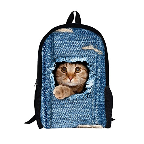 TOREEP Cute Cat Dog Print Casual Laptop Backpack School - Budget Brands Best Sunglasses
