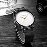 Cliramer Women's Casual Luxury Watch with Stainless Steel Strap Ladies Watch Simple and Elegant