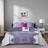 Intelligent Design ID14-953 Quilt, Twin/Twin X-Large, Purple