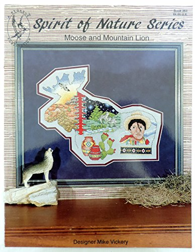 Spirit of Nature Series Moose and Mountain Lion Counted Cross Stitch Pattern 363