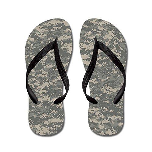 CafePress Digital Camo - Flip Flops, Funny Thong Sandals, Beach Sandals Black