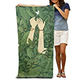 DWN Bath Towels Green Wood 32''x51'' Premium Towel Blanket Super Soft Absorbency