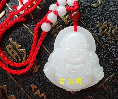 - natural jade buddha pendant necklace white men women girls models show lucky (pendant only)