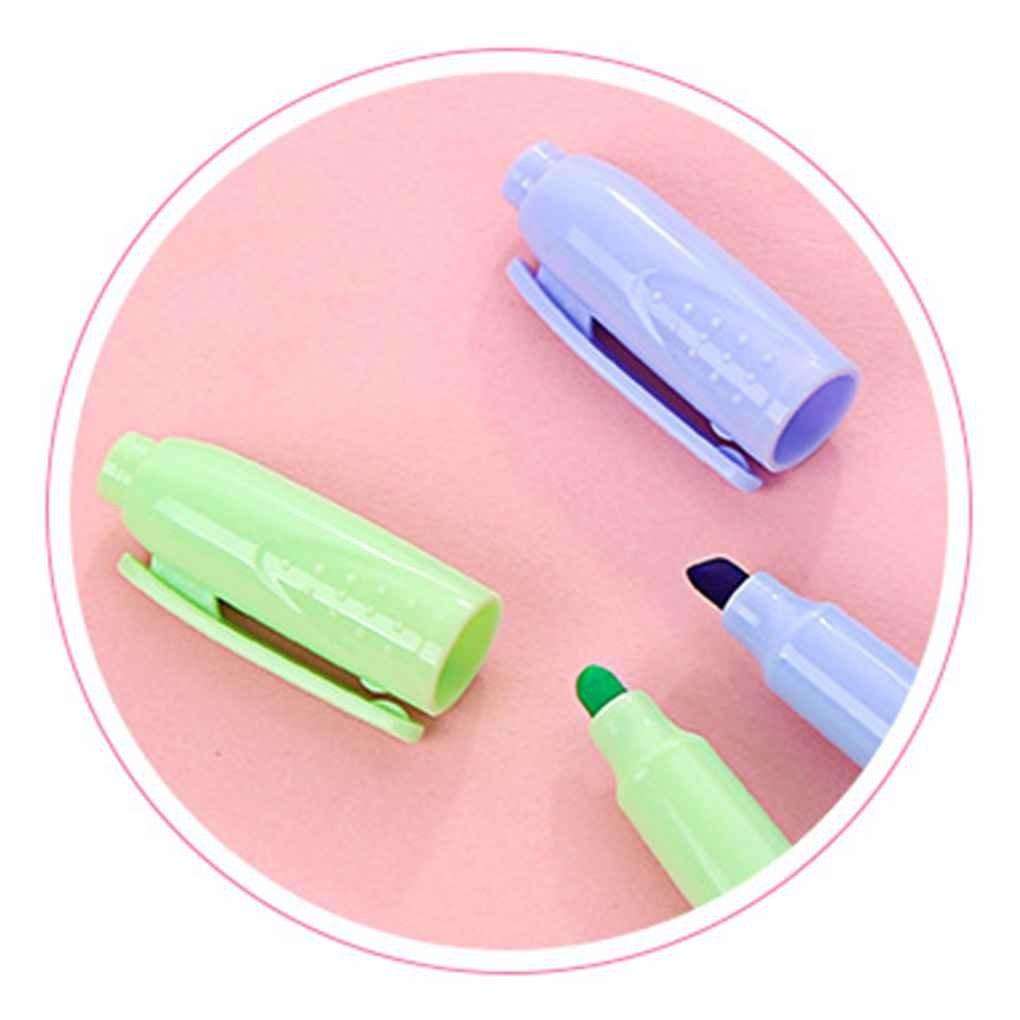 Aeroty 6pcs Set indicatore fluorescente della linea della penna del creatore del taccuino del highlighter di colore della caramella