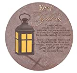 Keep The Light On Sympathy Bereavement Stepping Stone Round Plaque