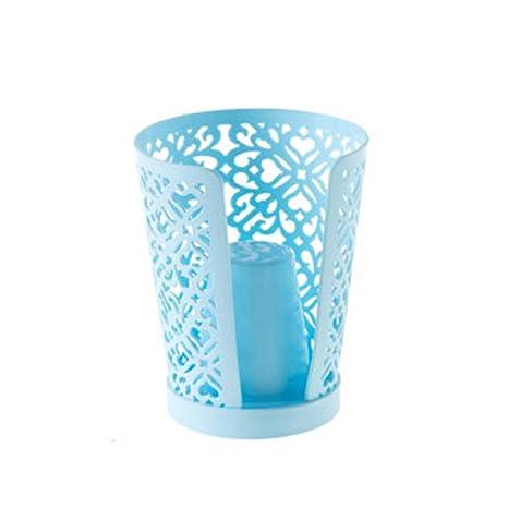 Scrox 1x Portavasos Practico Vasos Desechables Vaso de Papel Estanteria Organizador Cocina Creativo Diseño (Azul