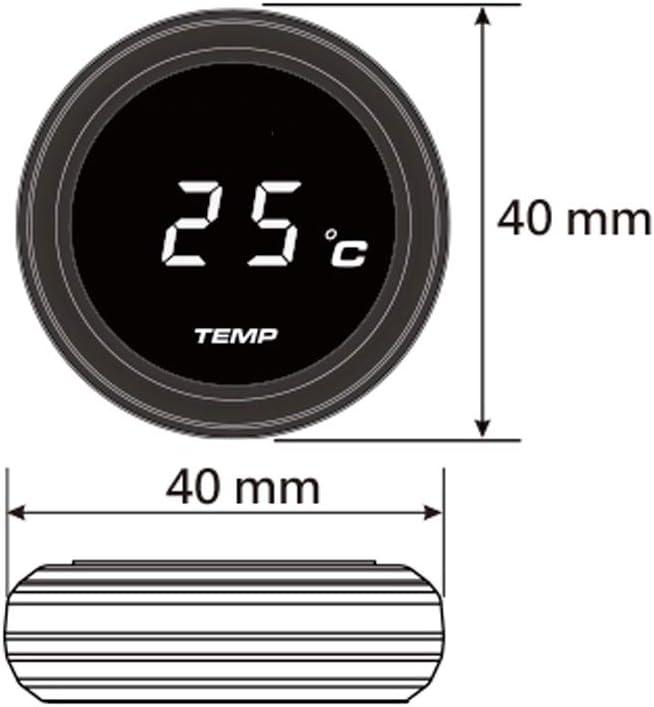 Semoic Universal Motorcycle Instruments Thermometer Water Temp Temperature Digital Display Gauge Meter For Yamaha Tmax 530 500(Blue Ligh)