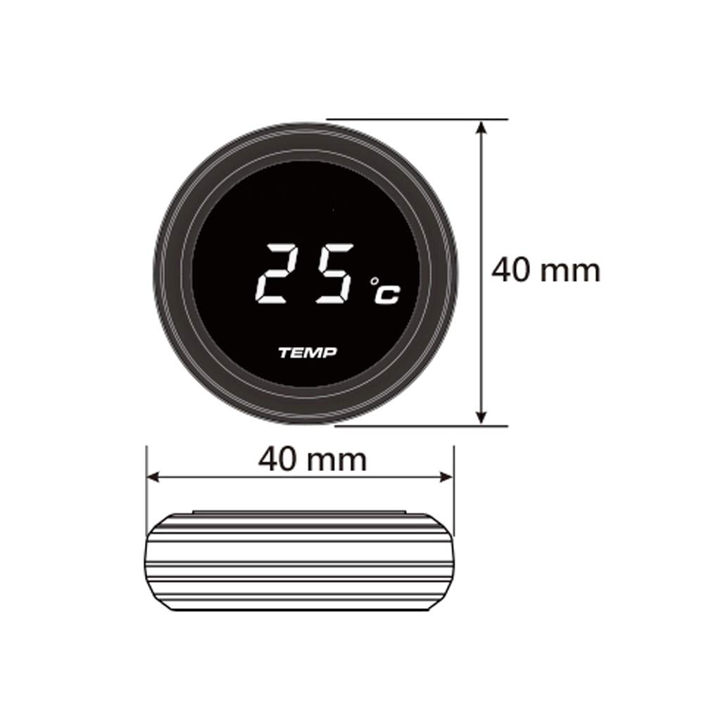 Semoic Universal Motorcycle Instruments Thermometer Water Temp Temperature Digital Display Gauge Meter For Yamaha Tmax 530 500(Red Light)