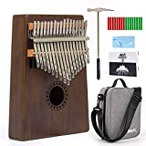 AKLOT Kalimba 17 Keys Tines Thumb Piano C Key Finger Piano Professional Starter Set for Kids Adult Beginner with Shoulder Bag Online LessonTuning Hammer