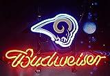 Desung Brand New 14''x10'' B udweiser Sports Team LA-RamsNeon Sign (Various Sizes) Beer Bar Pub Man Cave Glass Neon Light Lamp BW27