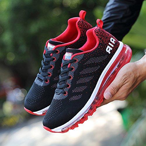 Basse Uomo Unisex Donna Casual Running Ginnastica Tqgold Corsa All aperto  Sneakers Scarpe Rosso Sportive Da Interior ... d704fc7c524
