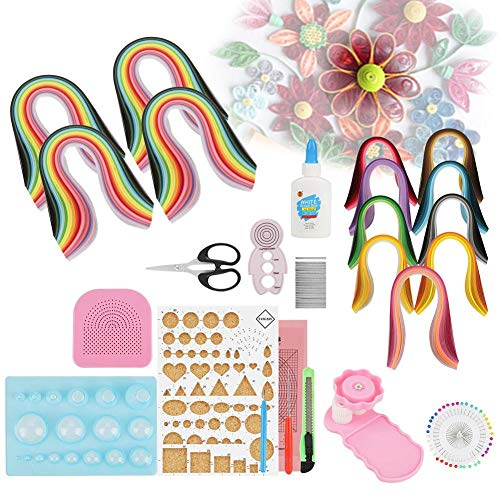 Quilling Paper DIY Tools Sets, 40PCS DIY Craft Kits Quilling Strips Crafts Tool Set for Beginner's DIY Craft Clipping Decoration by ZJchao