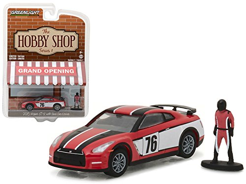 R35 Series (Maisto 2015 Nissan GT-R R35 Red #76 with Race Car Driver The Hobby Shop Series 1 1/64 Model Car by Greenlight)