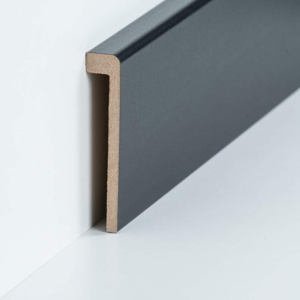 Abdeckleiste f/ür Fliesensockel Profileisten 720.96.13.85.33 Edelstahl Verkleidung bis 85 mm