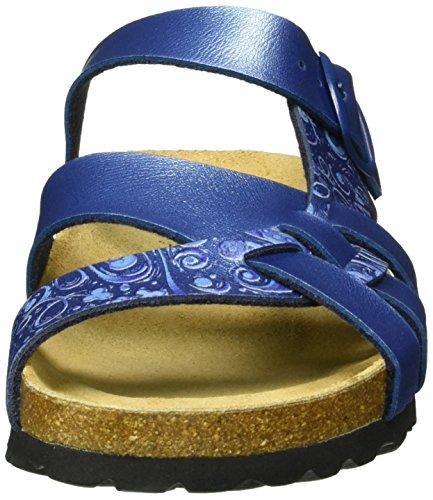 Lico Femme Bioline Chaussons Flora Bleu Blau blau wS7zxqpaw