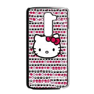 Durable Hard cover Customized TPU case Hello Kitty Apples LG G2 Cell Phone Case Black