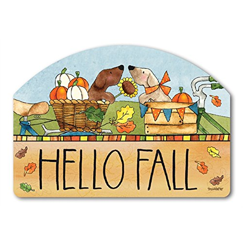 Autumn Bike Ride Yard DeSigns Magnetic Art 70101