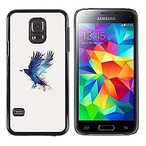 iKiki Tech / Estuche rígido - Cuervo Cuervo Pintura - Samsung Galaxy S5 Mini, SM-G800