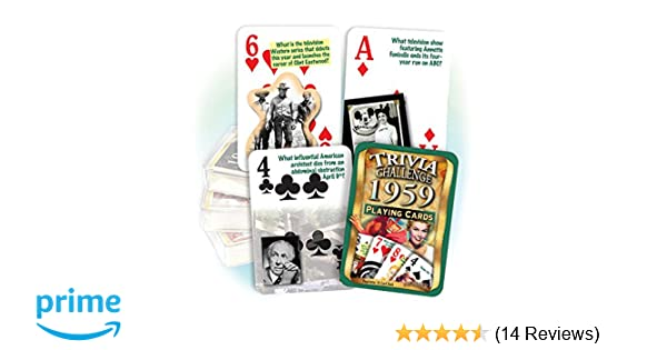 Flickback 1959 Trivia Playing Cards: 60th Birthday or 60th