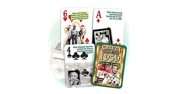 Amazon.com: flickback 1959 Trivia Juego de cartas: Great ...