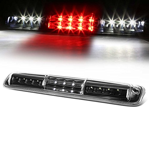 For Silverado/Sierra GMT800 High Mount Dual Row LED 3rd Brake/Cargo Light (Black Housing Clear ()